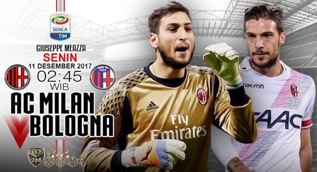 Prediksi Bola : AC Milan Vs Bologna , Senin 11 Desember 2017 Pukul 02.45 WIB