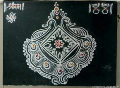 Multi Design White Color Rangolis