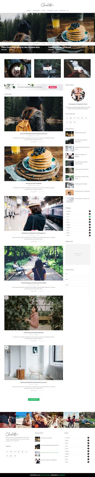 Charlotte Multipurpose Blogger Template