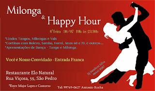 Baile de tango-milonga com Denilson Silva