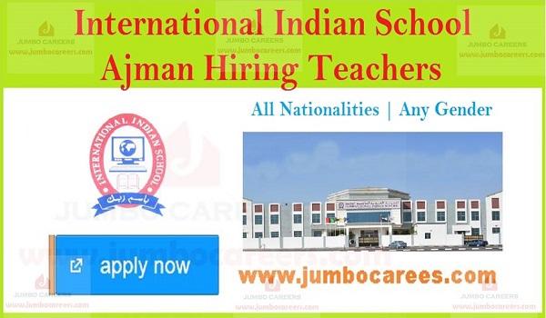 Ajamn school job vacancies, Job openings in Ajman,
