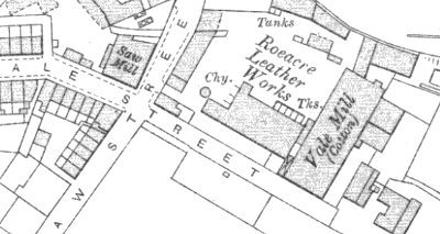 Vale Mill, OS map, 1907.