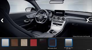 Nội thất Mercedes AMG C43 4MATIC 2018 màu Đen Leather 201