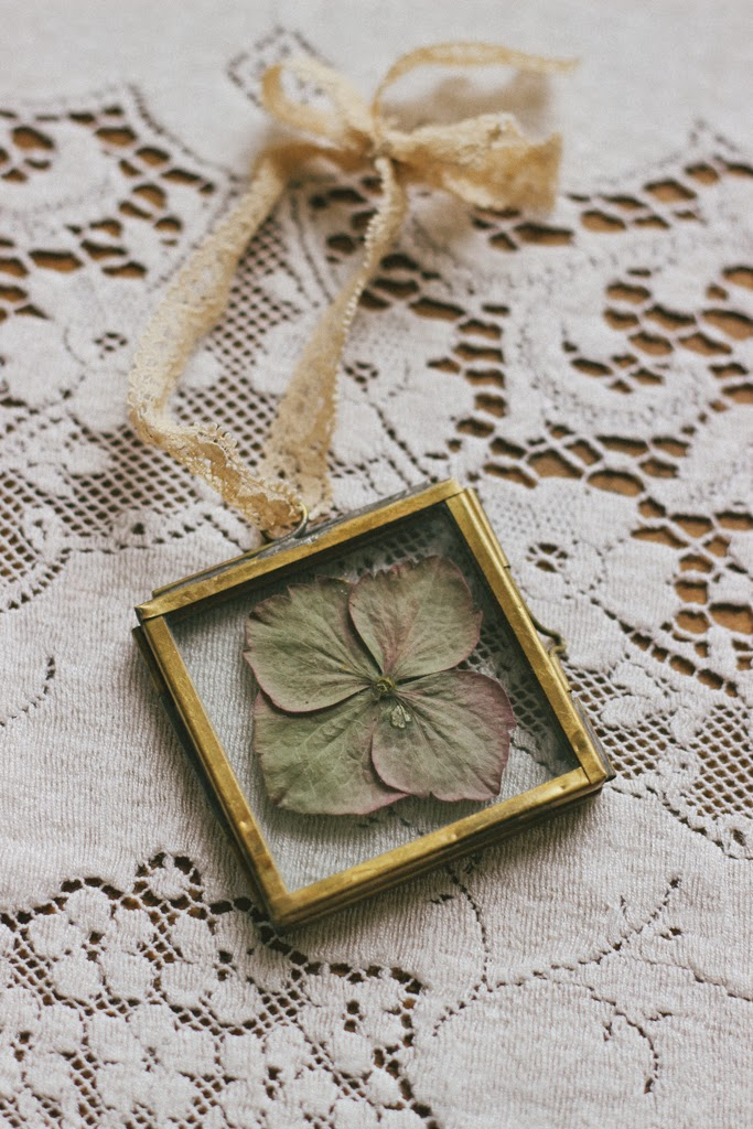 A handmade cottage: Pressed wild flowers in glass frames