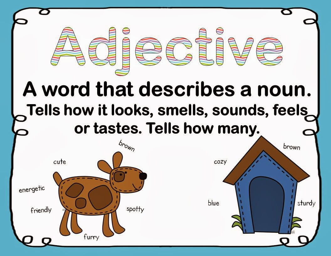 Welcome To Parts Of Speech 1 Adjectives