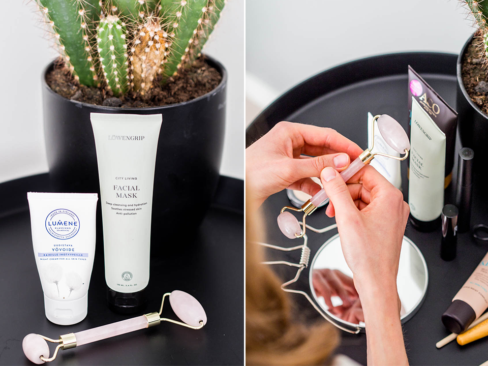 skincare-routine-product-recommendations-lumene-löwengrip-jade-roller-ihonhoito-kauneudenhoito