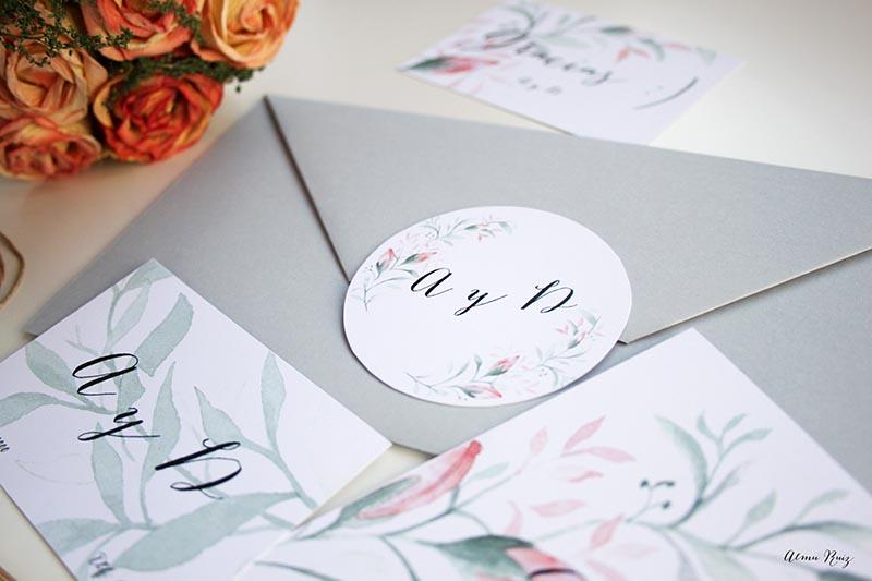 Diseño invitaciones de boda y papelería