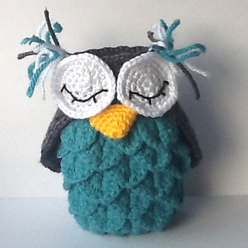 How to Crochet an Owl using the Crocodile Stitch - Tutorial