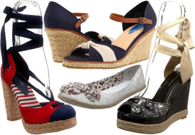 Zappos Blue Wedge Shoes
