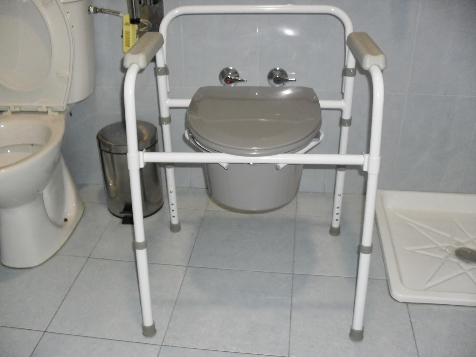 Silla wc 3 en 1 elevador de wc silla inodoro y apoyo for Sillas para water