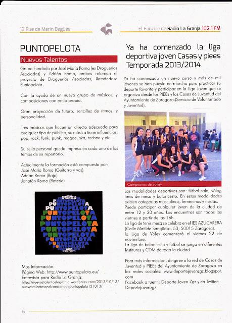 NOTICA REVISTA RADIO LA GRANJA: Ya ha comenalzo la liga deportiva joven Casas y Piees Temporada 2013/2014