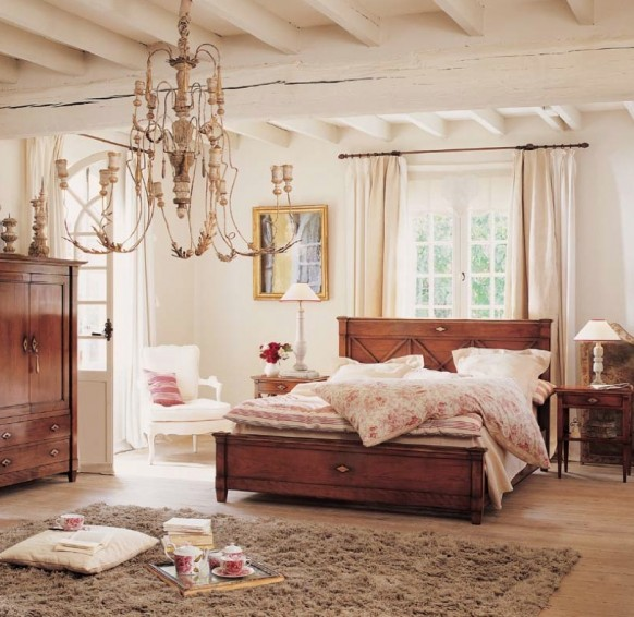 Modern Shabby Chic Bedroom: Home Interior Design & Decor: Modern Classic And Rustic