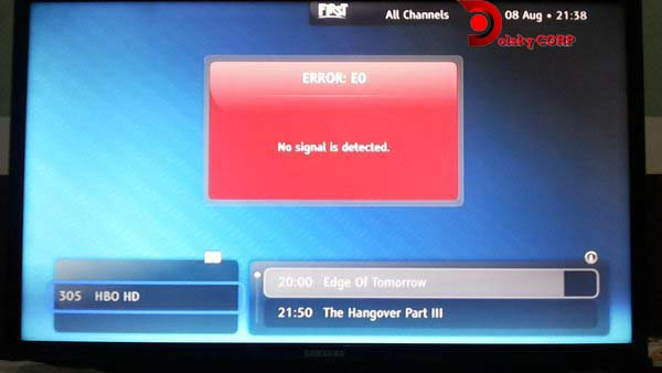Cara Mengatasi dan Solusi First Media Error No Signal Detected pada Modem dan TV Kabel