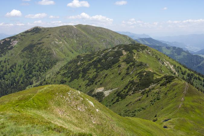 Blick vom Blaseneck zum Leobner | Theklasteig | Eisenerzer Alpen Höhenweg