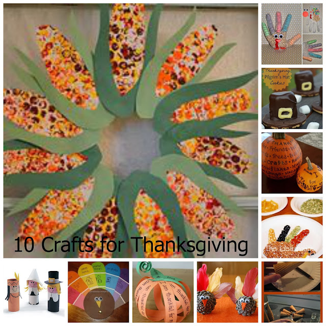 10 Crafts for Thanksgiving