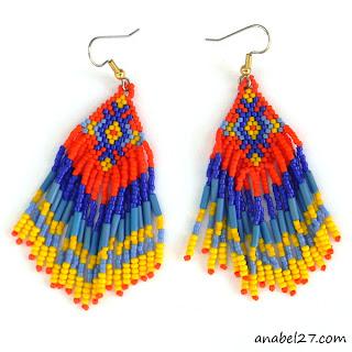 купить яркие необычные этнические украшения из бисера на лето