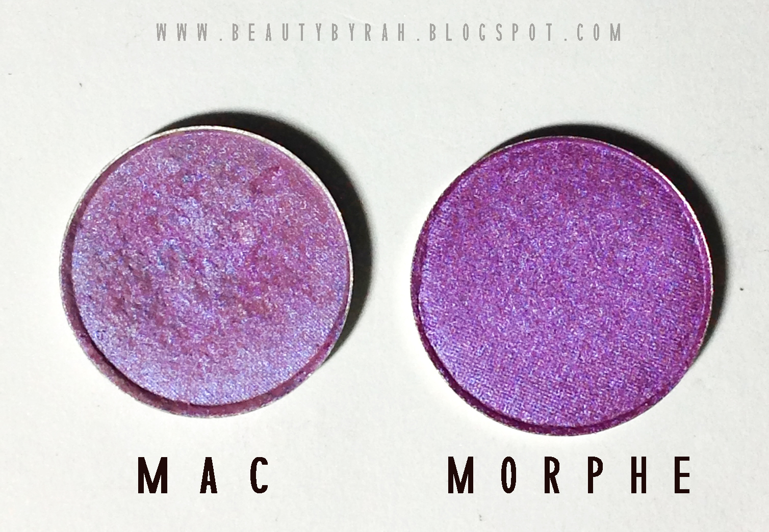 comparison between morphe and mac eyeshadows
