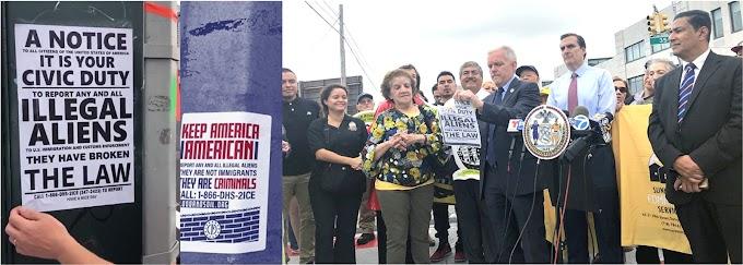Supremacistas y republicanos en agresiva campaña contra inmigrantes en NY al aproximarse elecciones congresuales
