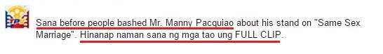 The big REVELATION about the FULL-CLIP of Manny Pacquiao's controversial interview! MUST WATCH!