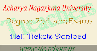 ANU 2nd sem hall tickets 2017 degree results of nagarjuna university