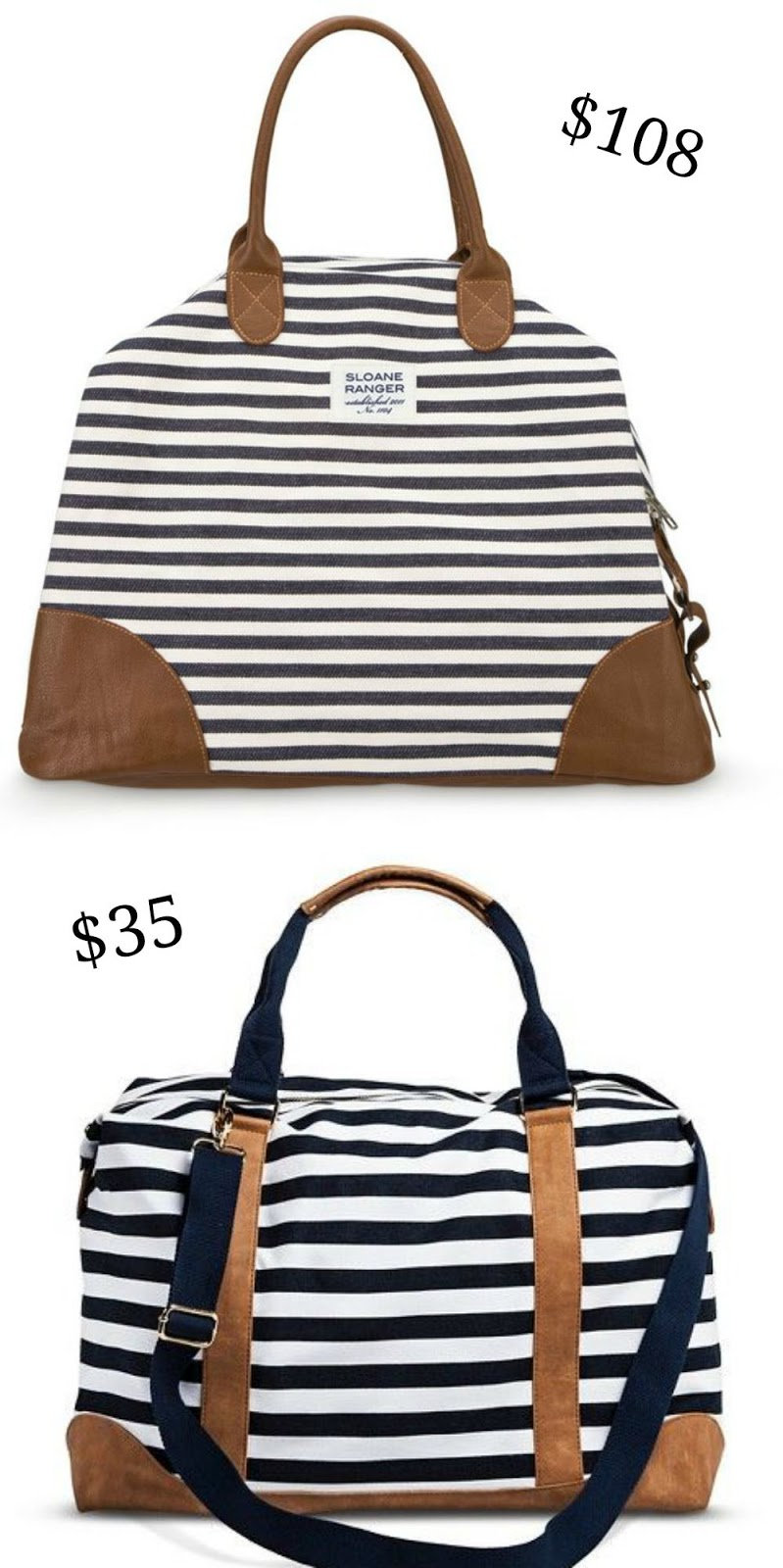 3afe4639a1ec87 KEEP CALM AND CARRY ON: Striped Weekender: Save or Splurge?