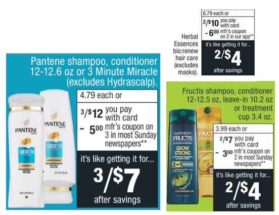 FREE Garnier Fructis, Pantene & Herbal CVS Deal -4/28-5/4