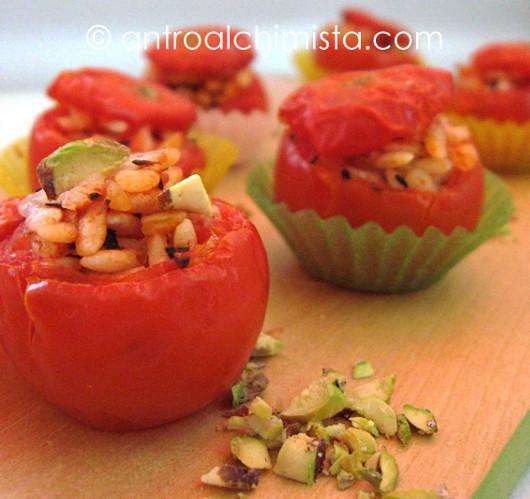 Pomodorini al Riso con Mentuccia e Pistacchio