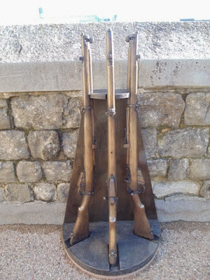 Executions at the Tower - replica rifle stand.  (copyright G.K. Jakobs).