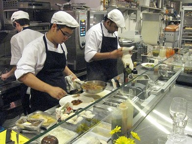 Chefs at work at Yeast Bistronomy