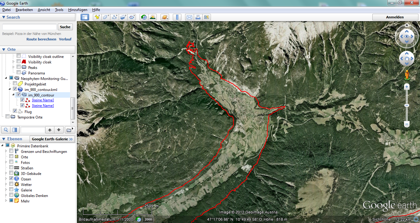theBioBucket*: Calculate Single Contour-Line from DEM with