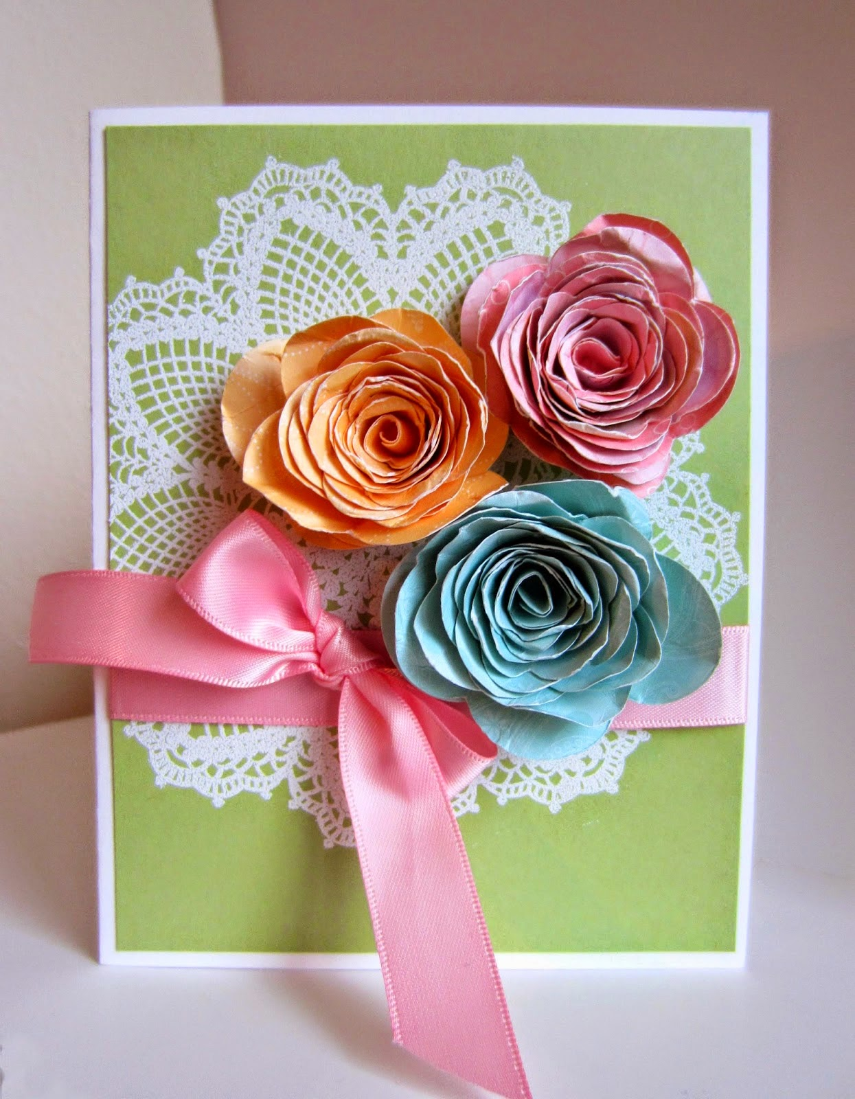 A Bouquet of Roses Card