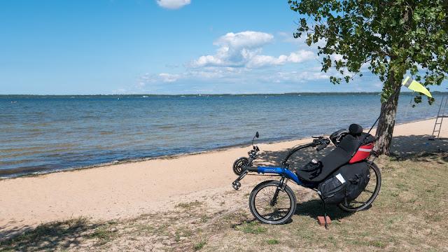 Vélodyssée, lac de Biscarosse