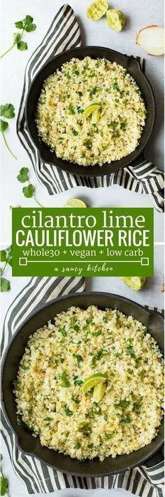 #TOPRECIPES Cilantro Lime Cauliflower Rice