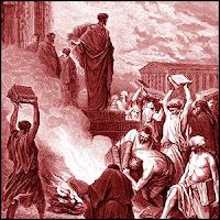 Гюстав Доре «Апостол Павел сжигает книги в Эфесе»