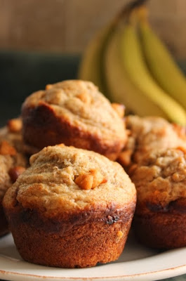 Healthy Butterscotch Banana Muffins