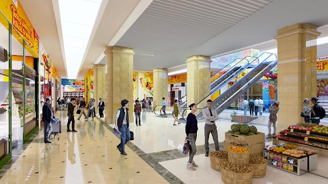 Siêu thị mua sắm lớn với đầy đủ nhu cầu thường nhật cũng như kết hợp khu giải trí