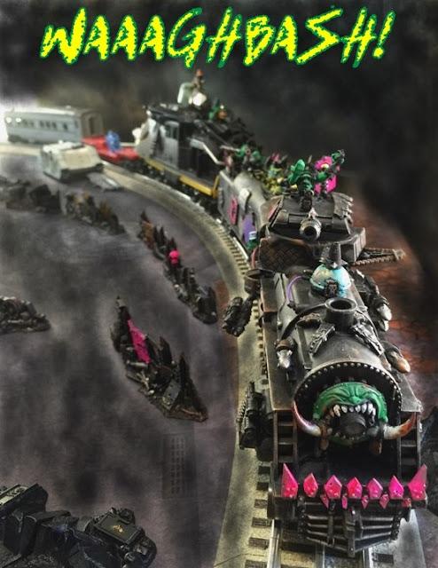 Waaaghbash Kannonball; Ork Looted Train; Dakka Chugga; Spork; Fork