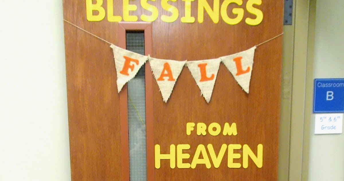 Easy Breezy Sunday School: Fall Door Decoration