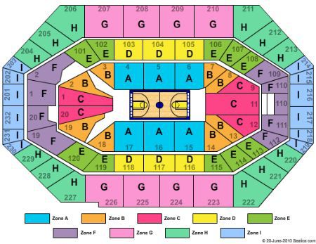 Bankers Life Fieldhouse Seating Chart Indianapolis Tickets Schedule