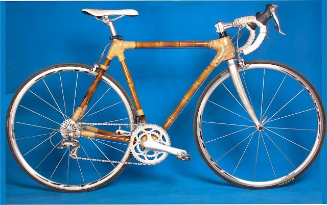 Rangka sepeda dari bambu