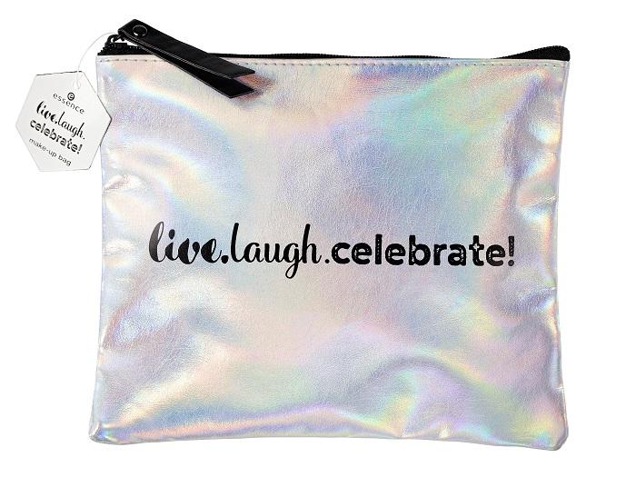 essence live laugh celebrate Kosmetiktasche
