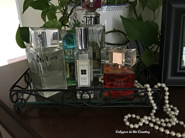 Perfume Tray - part of my mini makeover of my dresser