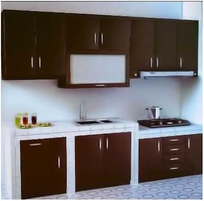 model meja dapur sederhana yang menawan