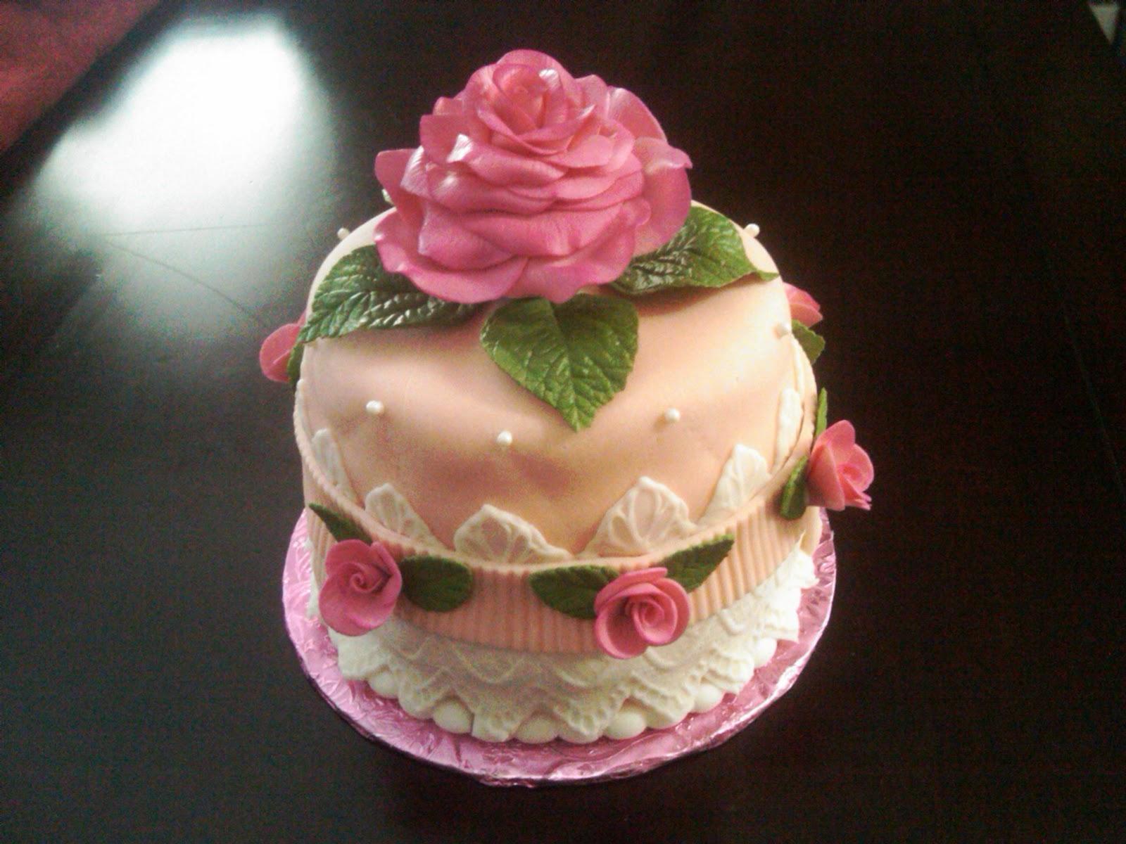 Fabbylicious Cakes Rose Birthday Cake
