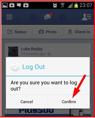 how to logout of facebook app on iphone