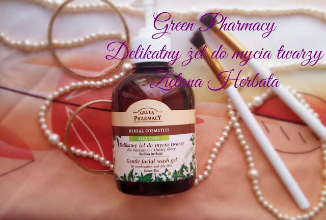 Green Pharmacy żel do twarzy z zieloną herbatą.