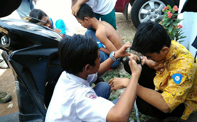Terjaring Razia, Puluhan Pelajar di Jombang Dihukum Cukur