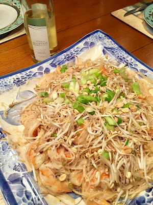 Riesling pairing with Pad Thai and Mountain Road Riesling