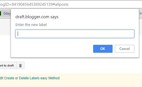 How to Rename Blogger Label