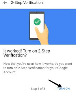 opening gmail पर mobile में otp code 2 step verification